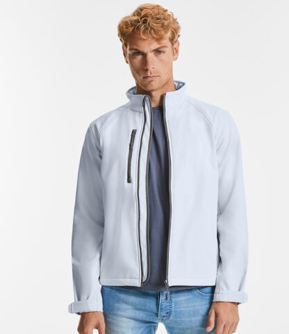 140M Men's Softshell Jacket, Russell, White