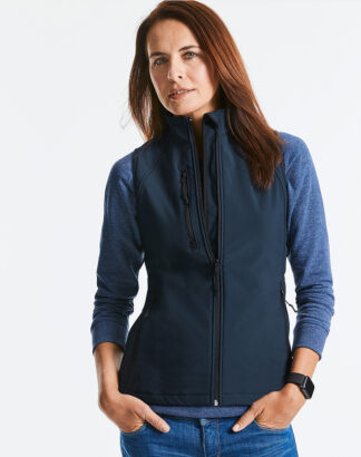 141F Ladies Softshell Gilet, French Navy