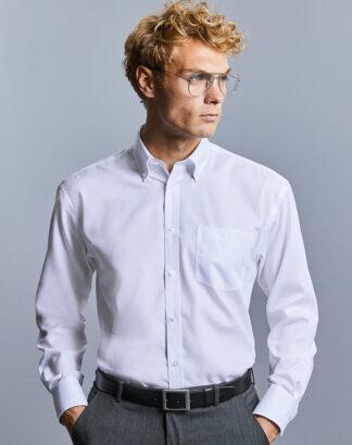 956M Men's Long Sleeve Ultimate Non-Iron Shirt, white