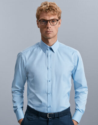 962M Men's Long Sleeve Herrringbone Shirt