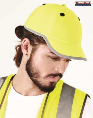 BB535 Enhanced-Viz Bump Cap, Beechfield, Fluorescent Yellow