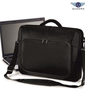 QD266 Portfolio Laptop Case, Quadra, Black
