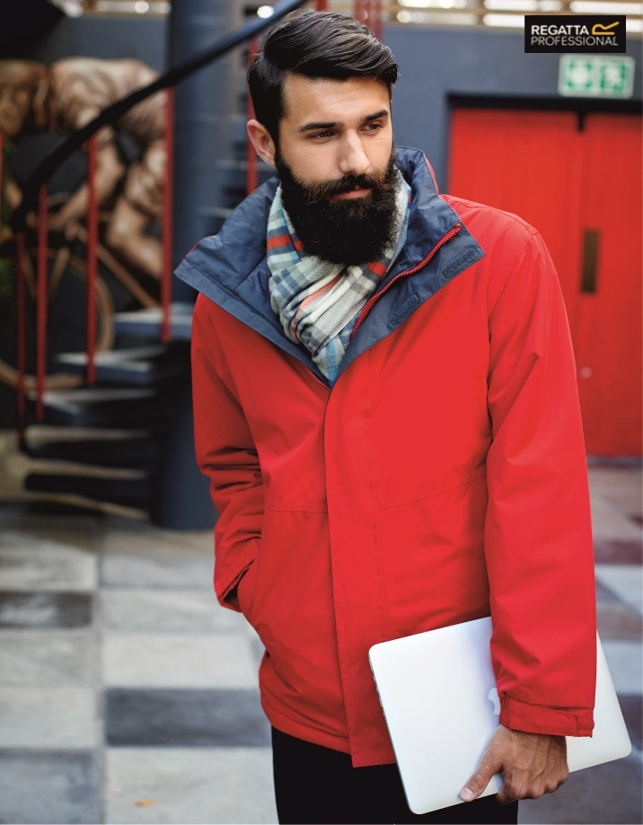 RG051 Beauford Waterproof Insulated Jacket. Regatta Professional, Classic Red/Seal Grey