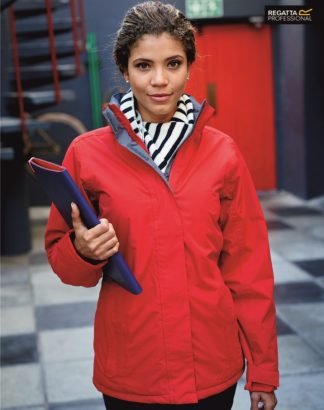RG052 Ladies Beauford Waterproof Insulated Jacket, Regatta Professional, Classic Red/Seal Grey