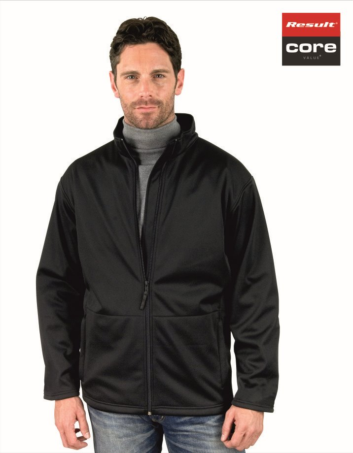 RS209M Mens Core Softshell Jacket, Result, Black