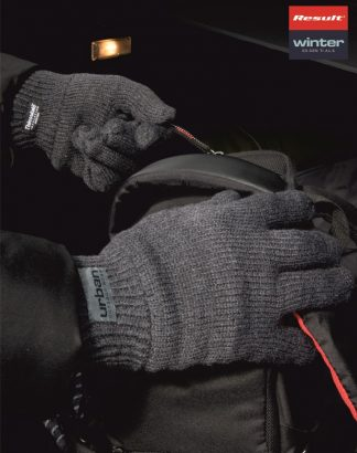 RS147 Classic Lined Thinsulate Gloves, Result Winter, Charcoal