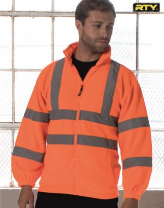 HV72 High Visibility Full Zip Fleece, RTY