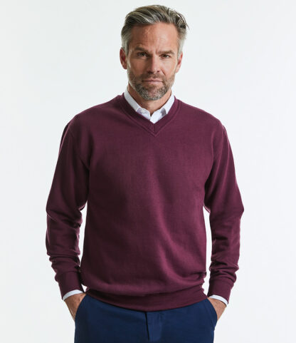 272M V Neck Sweat, Russell